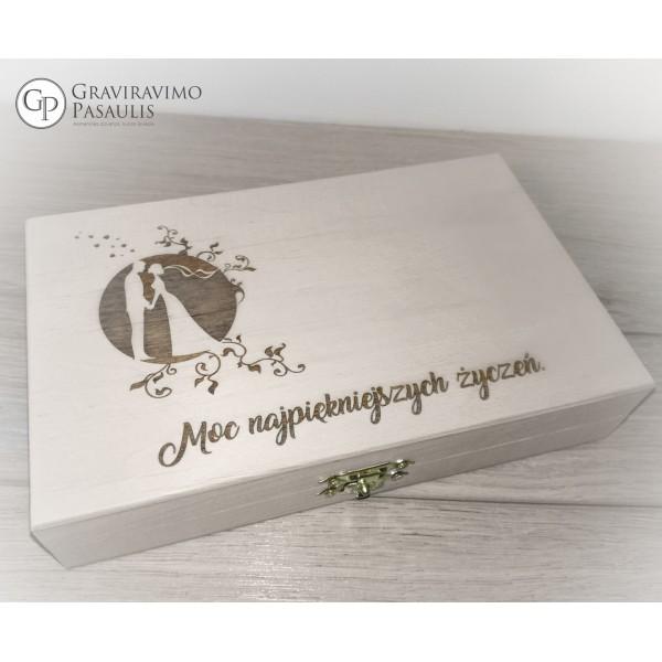 """Linkėjimų dėžutė """"Vestuvėms"""""""