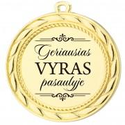 """Medalis """"Geriausias VYRAS pasaulyje"""""""