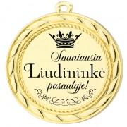 """Medalis  """"Šauniausia liudininkė"""""""