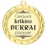 """Nominacijos medalis """"Krikšto dukrai"""""""