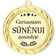 """Medalis """"Geriausiam Sūnėnui pasaulyje"""""""
