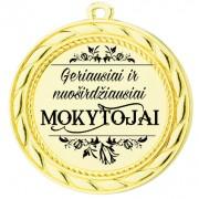 """Medalis """"Geriausiai ir  nuoširdžiausiai Mokytojai"""""""