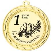 """Graviruotas medalis """"Vestuvių metinės"""""""