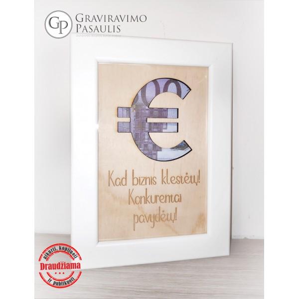 """Nuotraukų rėmelis pinigams """"Euro"""""""